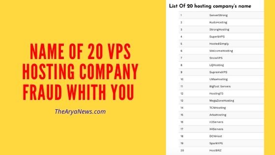 Why 20 VPS Hosting Company Scam with you